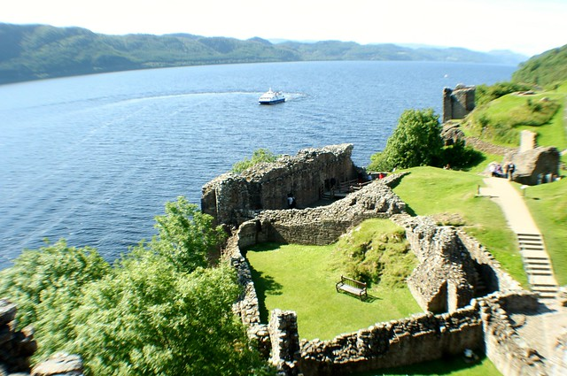 Loch Ness from Castle Urquhart, Scottish Highlands