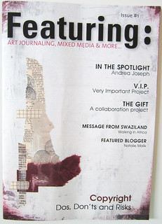 Magazine review: Featuring about art journaling etc