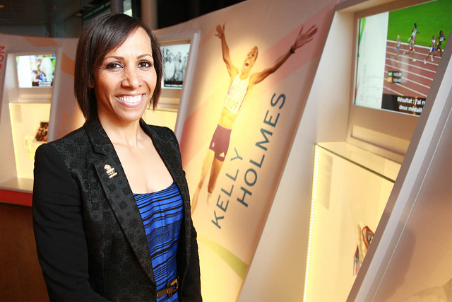 Dame Kelly Holmes views her exhibit at The Olympic Journey: The Story of the Games ©ROH/2012