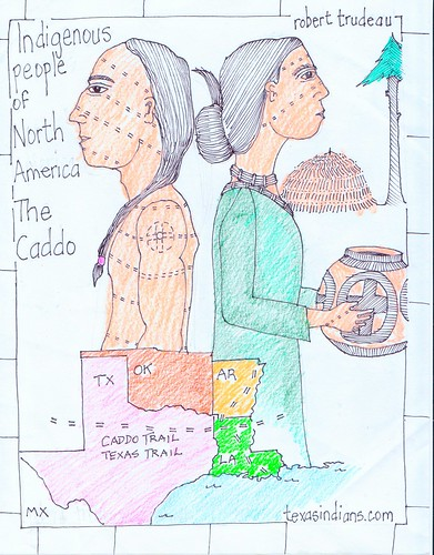 Caddo, the indigenous people of NW Louisiana and nearby Texas, Oklahoma and Arkansas by trudeau