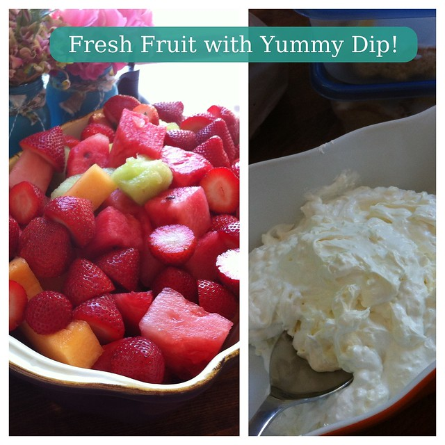 Fresh Fruit and Fruit Dip