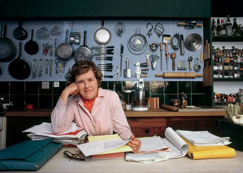 Julia Child in her kitchen in 1970