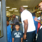 Earvin Magic Johnson At The FOX POINT Boys And Girls Club August 13 2012