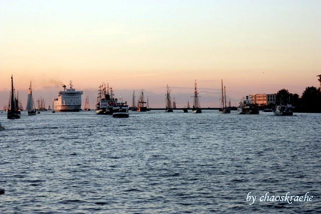 Segelparade auf der Ostsee