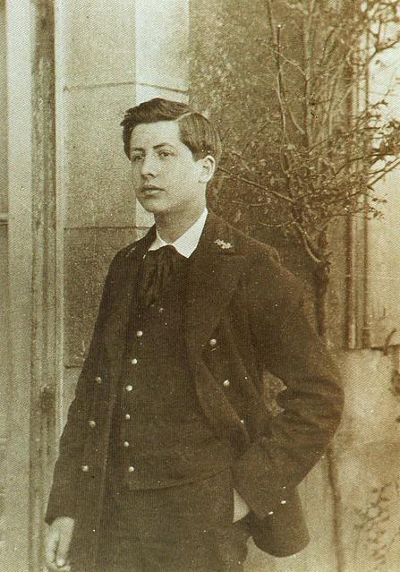 Alain-Fournier en 1902, en uniforme du lycée de Brest (29)