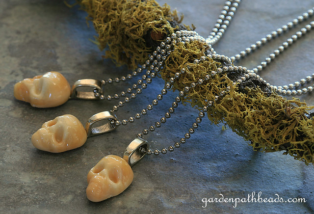 Lampwork Skully Necklace