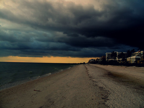 sunset sky storm beach clouds landscape evening day florida naples depth divided stormclouds apocalyptic swfl