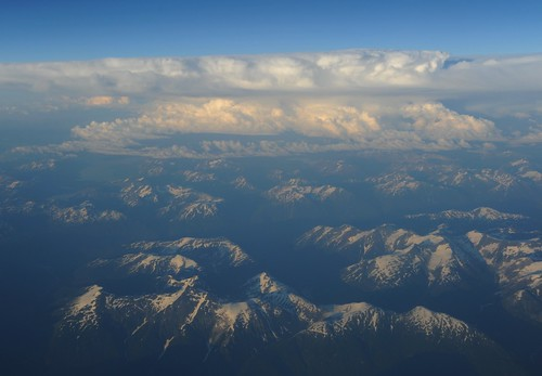 Cloud forms over Yukon mountains, West coast, Canada / Alaska, USA by Wonderlane