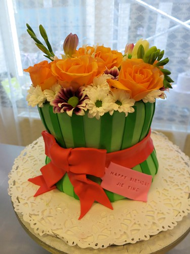Flower Bouquet Birthday Cake by CAKE Amsterdam - Cakes by ZOBOT