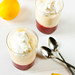 Lemon Mousse with Strawberry Compote