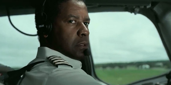Denzel Washington takes 'Flight' in a movie that's moderately overrated.