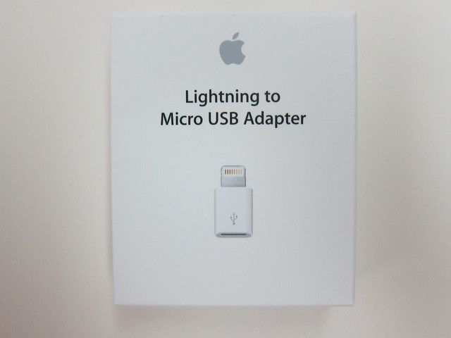 Apple Lightning to Micro USB Adapter - Box