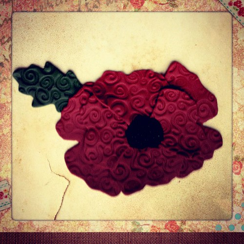 Polymer Clay Poppy Flower
