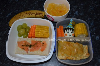 Tuna Bake and Rice Cracker Bento