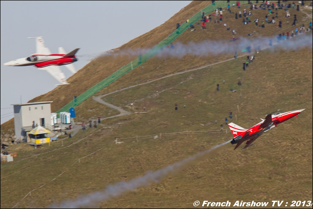 Patrouille Suisse Exercices de tir d'aviation Axalp 2013