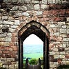 View through the ancient entrance at Beeston Castle, Chester best view in Cheshire / #outandabout #chester #castle #beestoncastle