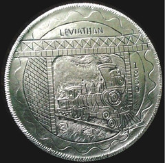 Engraving Leviathan LOcomotive Pulled Lincoln Funeral Train front