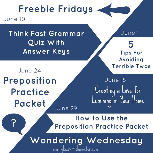 June Freebie FridayWondering Wednesday