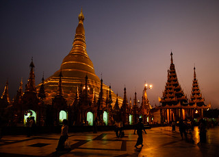 Shwedagon Paya after dark