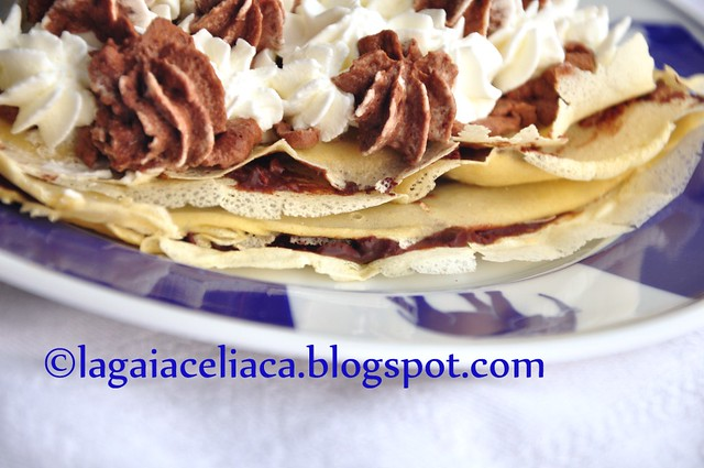 crepes gluten free al gianduia - close up by mammadaia