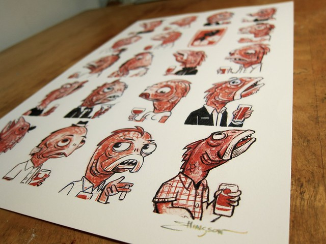 20 Fishes Print