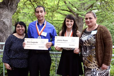 Migrant Students of the Year 2012 Eric Guajardo of Alamo and Jessica Reyna of La Joya
