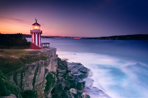ocean light sunset sea lighthouse night landscape photography harbour sydney australia nsw