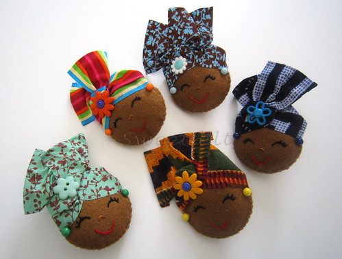 ♥♥♥  Afrikanoskas ... by sweetfelt \ ideias em feltro