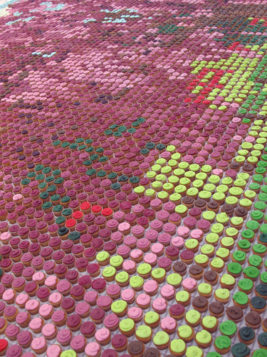 Cupcake mosaic close-up