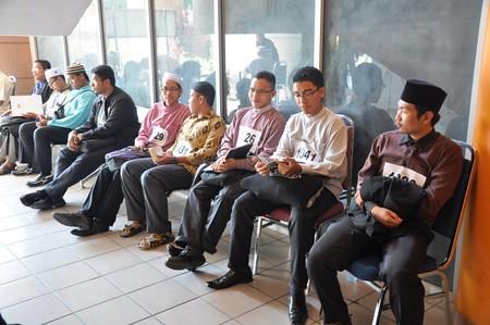 peserta yang menanti untuk ditemuduga
