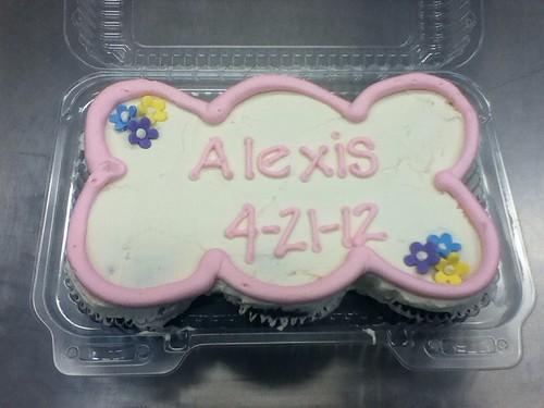 Christening cupcake cake