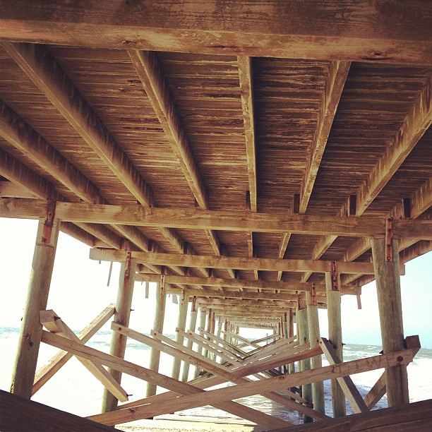 Under the boardwalk. ;)