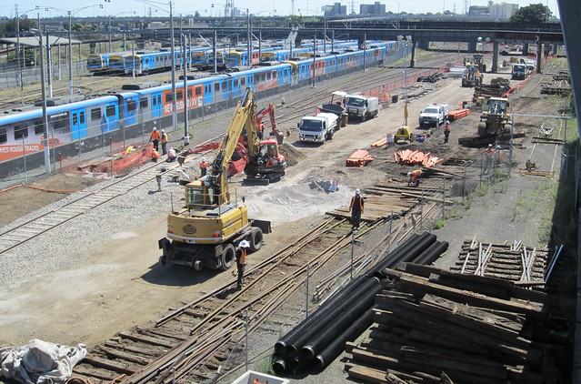 Regional Rail Link works at North Melbourne