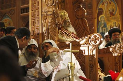 Egyptian Coptic Pope Shenouda III lies in state. The religious leader died recently. by Pan-African News Wire File Photos