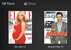 Zinio starts you off with two free magazines when you first install the app.