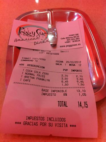 Sevilla | Peggy Sue | La cuenta (14,15)