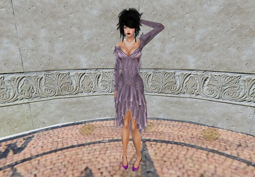 *Connors* SPRING DRESS DOTS&VIOLET (free) by Cherokeeh Asteria