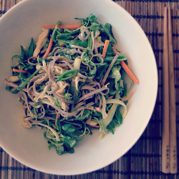 Seasonal soba salad