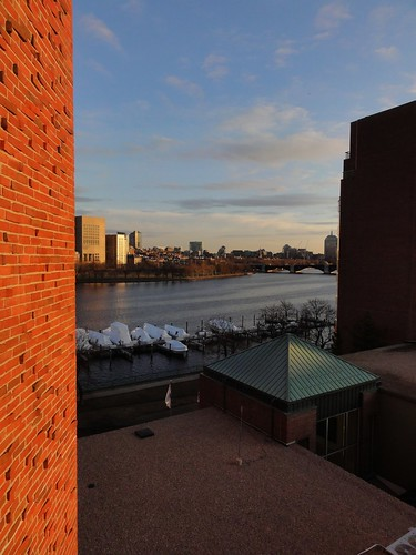 View from River View King Room 518 at Royal Sonesta Hotel Cambridge Massachusetts