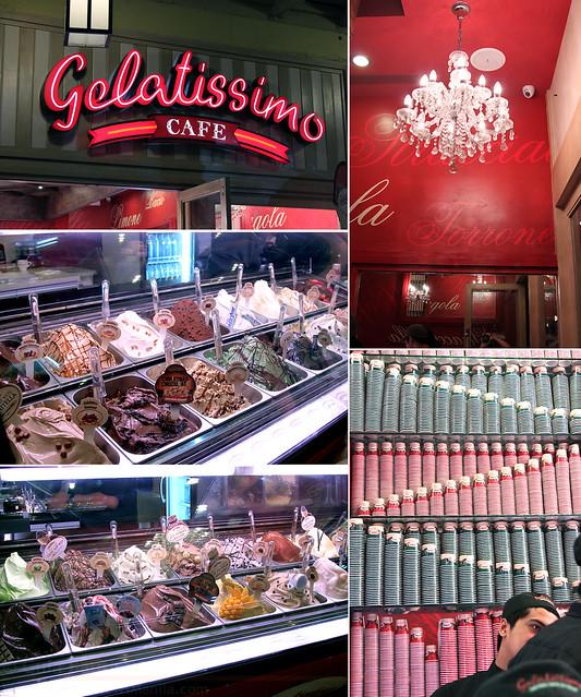 Gelatissimo interiors and gelato