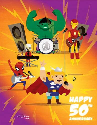 Happy 50th Spider-Man, Hulk, Thor, Ant-Man, & Iron Man