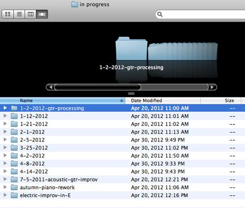 Bill Van Loo solo album: Working files