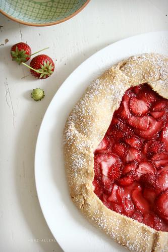 Erdbeer-Honig-Galette