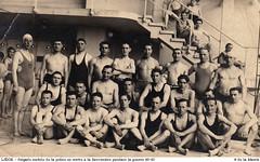 Des enfants en maillots de l'époque, à la piscine de la Sauvenière