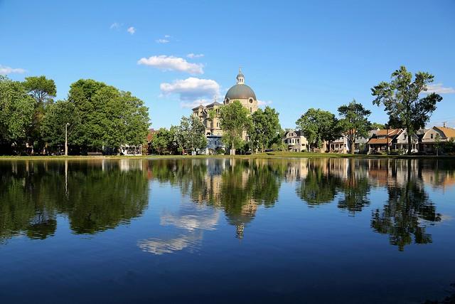 Reflections in Kosciuszko Park pond