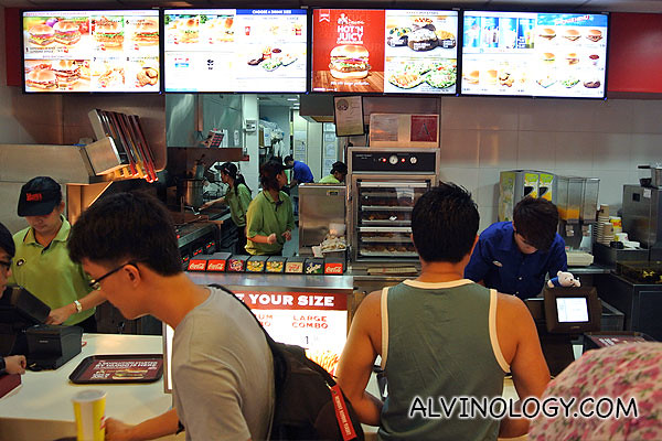Waiting to order my Dave's cheeseburger