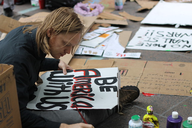 Occupy Wall Street in NYC.