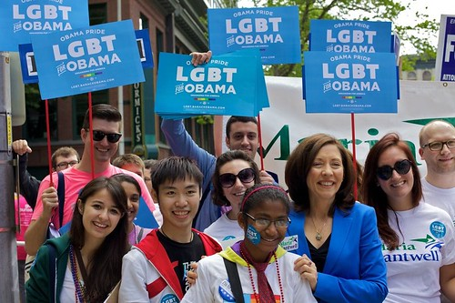 Maria Cantwell at Seattle Pride