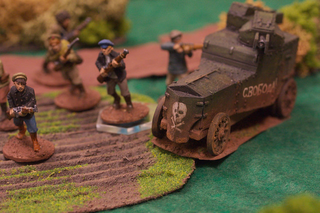 The Red armoured car and infantry