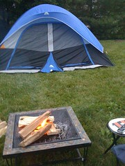Out tent and fire pit